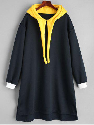 Outfits Plus Size Long Color Block Hoodie
