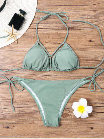 Affordable Halter String Bikini Set