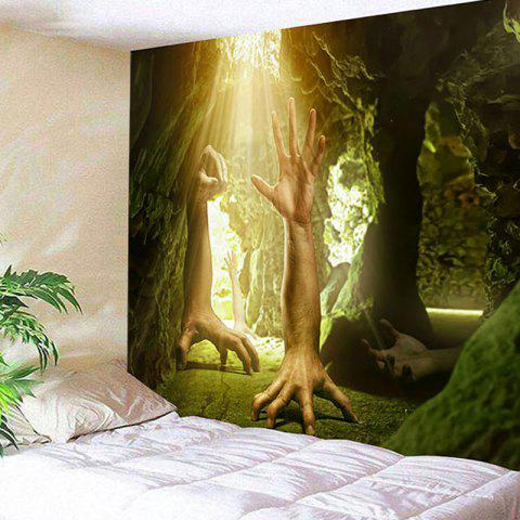 Best Strange Human Hands Printed Wall Hanging Tapestry