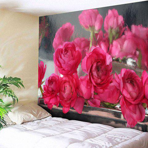 Trendy Wall Hanging Rose Flowers Print Tapestry