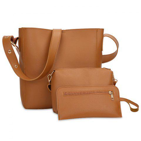Unique Faux Leather 3 Pieces Shoulder Bag Set