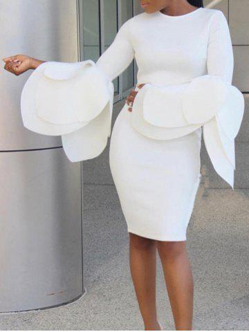 Outfits Dramatic Petal Sleeve Bodycon Dress
