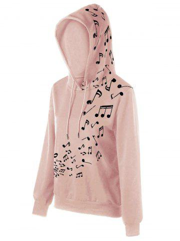 Latest Color Block Music Note Hoodie