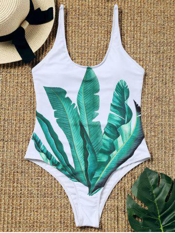 Store Palm Leaf Padded One Piece Bathing Suit