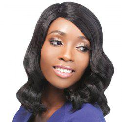 Medium Side Parting Wavy Synthetic Capless Wig -