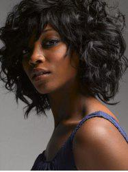 Medium Side Bang Fluffy Curly Synthetic Wig -