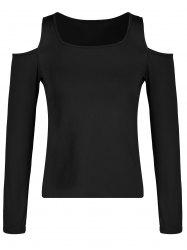 Square Neck Cold Shoulder T-shirt -