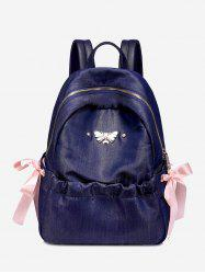 Metal Embellished Bee Bow Ribbon Backpack -