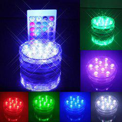 Remote Control Color Change LED Lights Waterproof Cup Coaster -