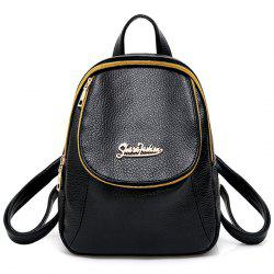 Two Tone Faux Leather Backpack -