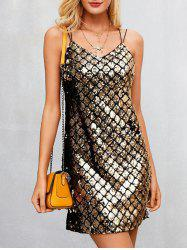 Spaghetti Strap Sequin Dress -