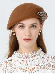 Vintage Bowknot Embellished Formal Pillbox Hat -