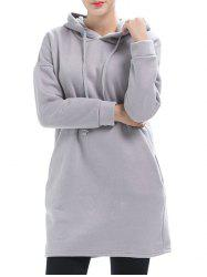 Drop Shoulder Tunic Hoodie -