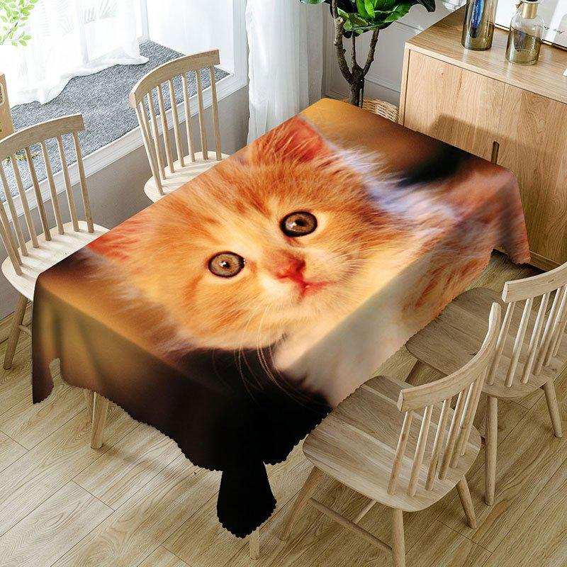 Outfits Cute Cat Pattern Microfiber Waterproof Table Cloth