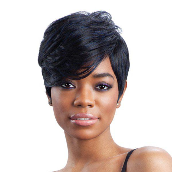 Outfits Short Side Bang Layered Shaggy Straight Synthetic Wig