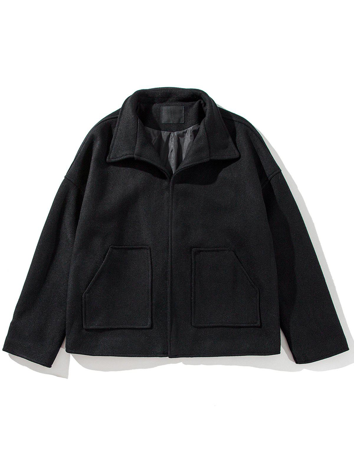 Latest Pockets Cloak Woolen Jacket