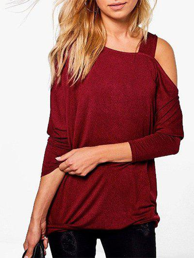 Cheap Skew Neck Plain T-shirt