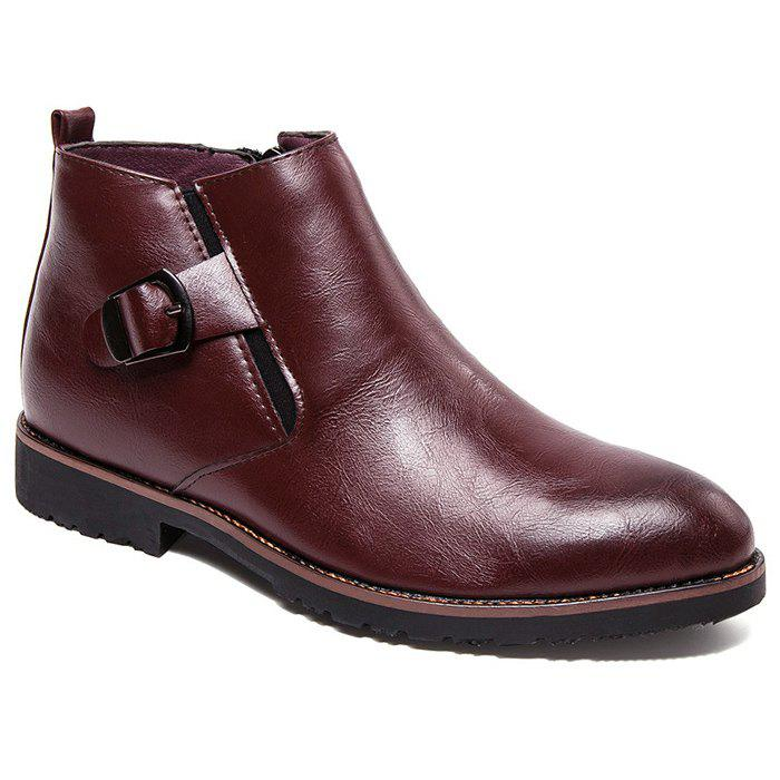 Online Zip Buckle Pointed Toe Chukka Boots