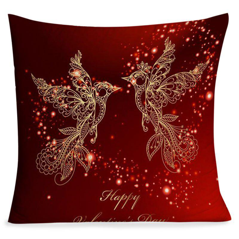 Outfit Valentine's Day Abstract Love Heart Birds Printed Pillow Case