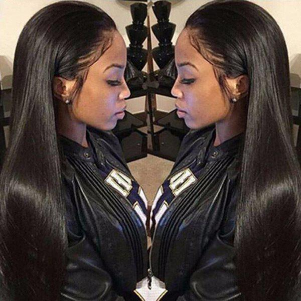 Hot Free Part Long Straight Lace Front Synthetic Wig