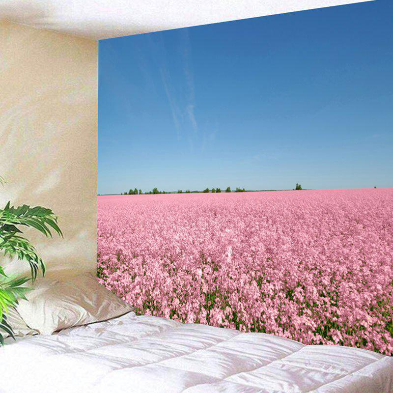 Store Wall Hanging Flower Field Scenery Printed Tapestry