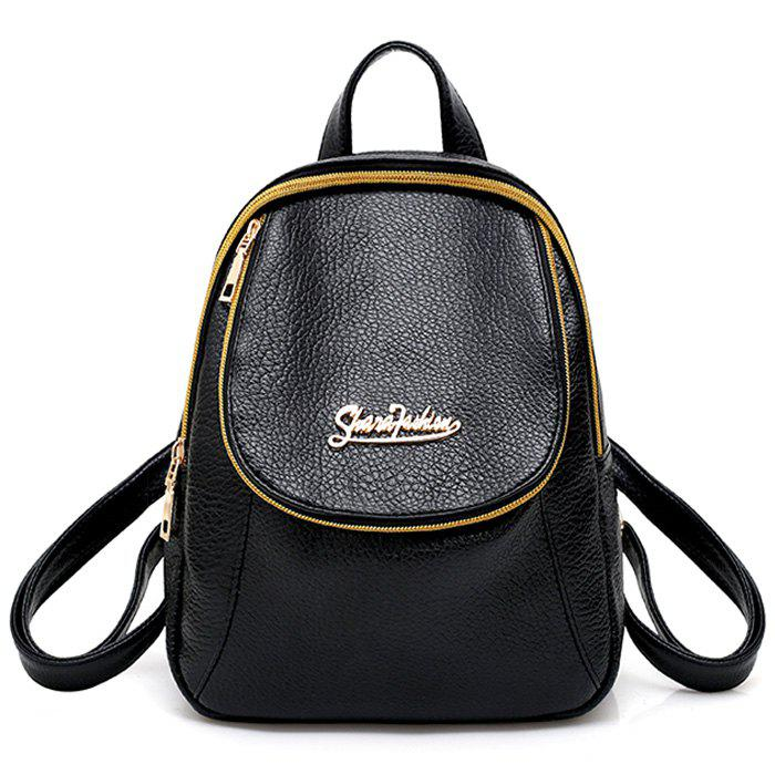 Latest Two Tone Faux Leather Backpack
