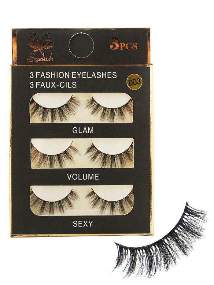 Fashion 3 Pairs Natural Soft Long Extension Fake Eyelashes