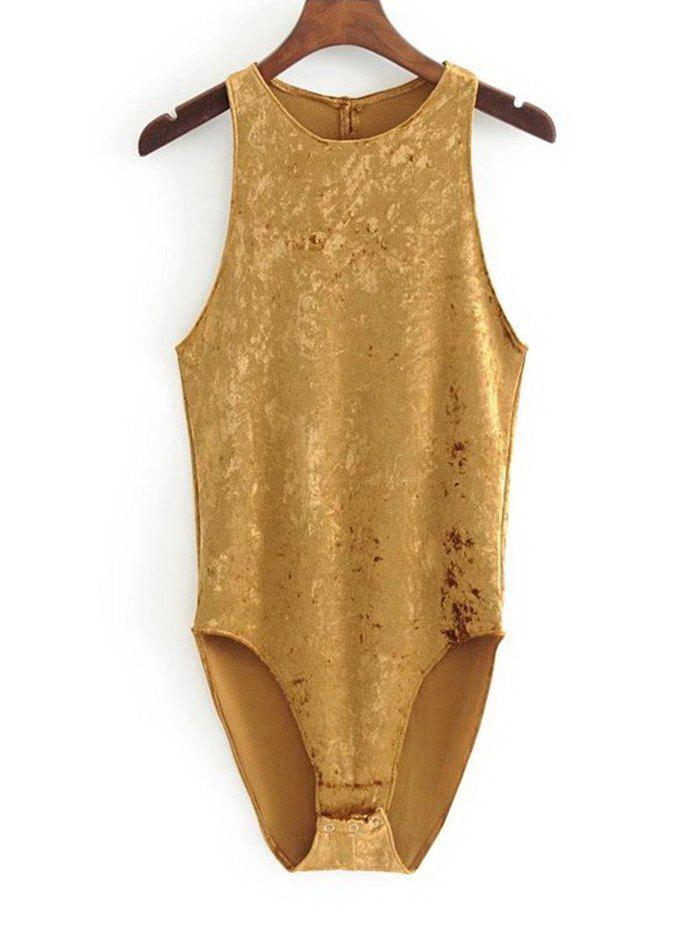 New Crushed Velvet Racerback Bodysuit