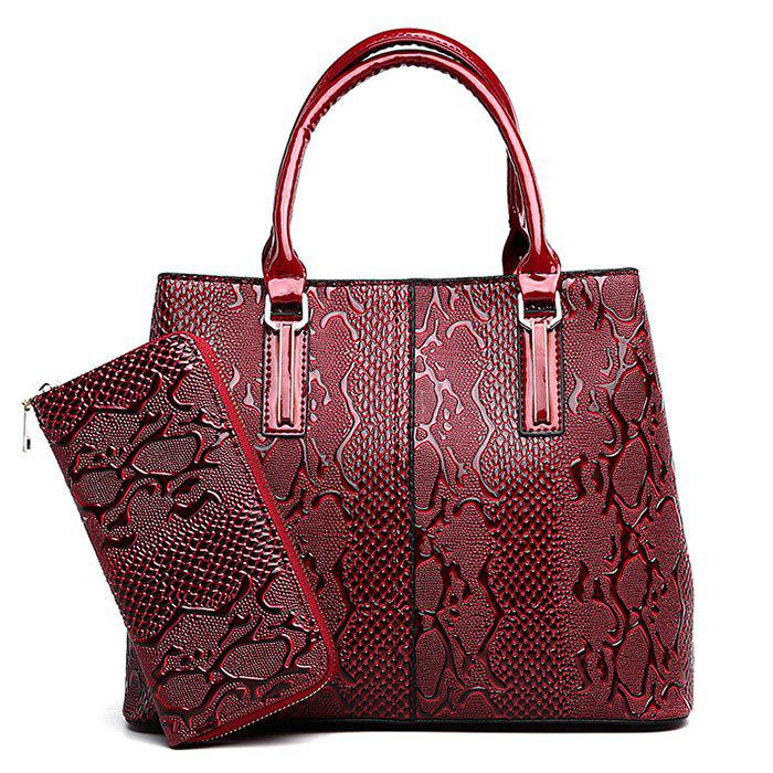 Chic PU Leather 2 Pieces Embossing Handbag Set