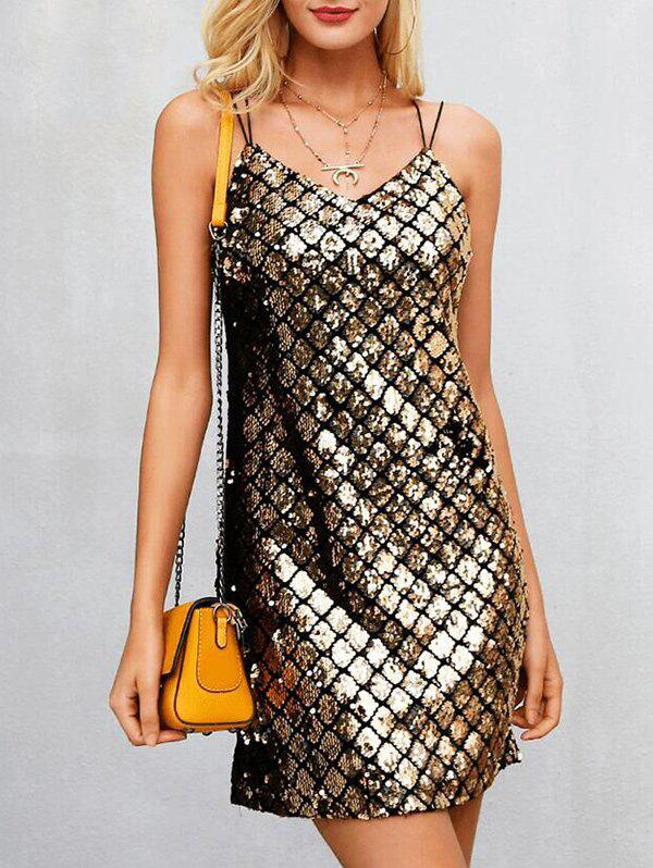 Hot Spaghetti Strap Sequin Dress