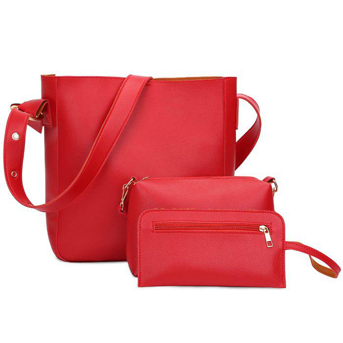 Discount Faux Leather 3 Pieces Shoulder Bag Set