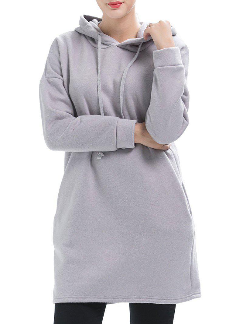 Discount Drop Shoulder Tunic Hoodie