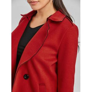 Lapel Wool Coat -