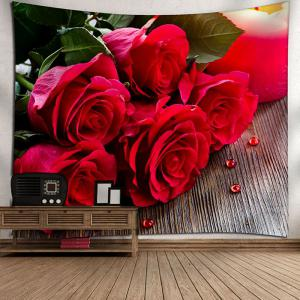 Valentine's Day Rose Flowers Wall Hanging Tapestry -