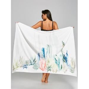 Sunbath Cactus Print Beach Throw -