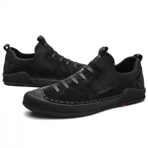 Round Toe Floral Embroidered Skate Shoes -