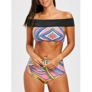 Tribal Off The Shoulder Bikini Set -
