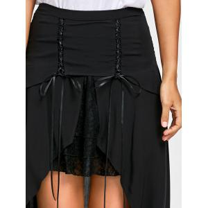 Lace Up Flowy Overlay Skirt -
