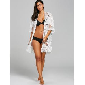 Embroidered Sheer Beach Cover Up -