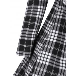 Plus Size Double Breasted Plaid Coat -