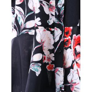 Plus Size Floral High Low sur le chemisier à l'épaule -