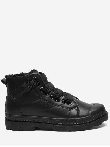 Store Hook and Loop Warm Ankle Boots