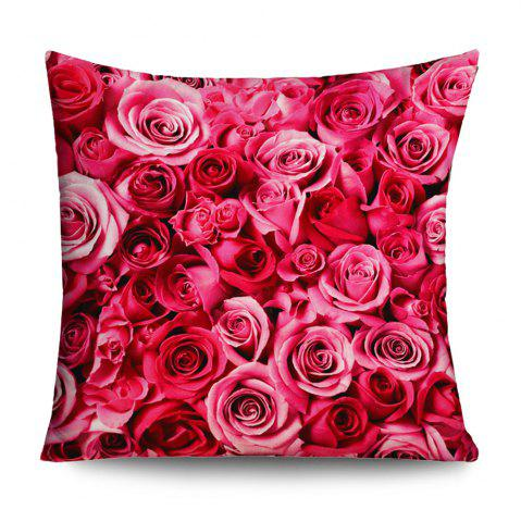 Outfits Valentine's Day Roses Pattern Square Throw Pillowcase