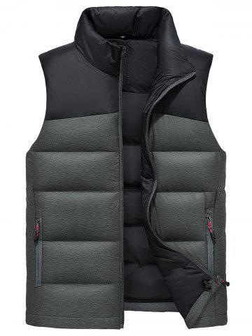 Outfit Color Block Zip Up Down Waistcoat