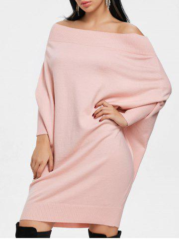 Trendy Batwing Sleeve Off The Shoulder Kint Dress