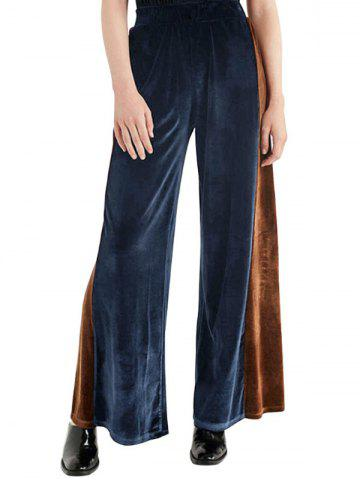 High Waist Velvet Wide Leg Pants