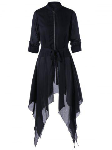 Outfits Handkerchief Skirted Coat