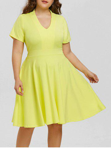 Shops Plus Size Empire Waist V Neck Dress