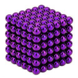 216 Pcs 3mm Education Toys Magnet Toys Multi Molding Magnetic Balls - Purple