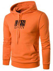 Drawstring Graphic Print Pullover Hoodie -